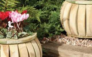 Садовый контейнер для цветов своими руками фото и описание работы