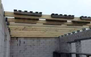 Деревянные перекрытия над первым этажом своими руками