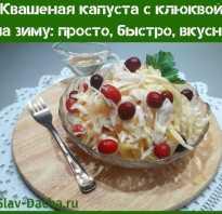 Рецепт квашеной капусты с клюквой