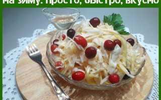 Квашеная капуста с клюквой рецепт классический