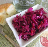 Квашеная краснокочанная капуста рецепт