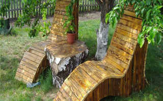 Изготовление садовой мебели из дерева своими руками