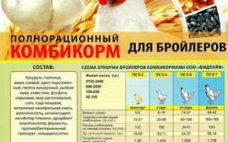Рецепт комбикорма для бройлеров