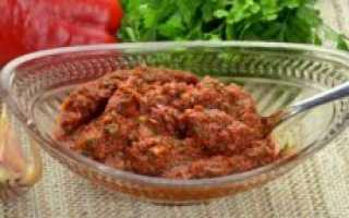 Абхазская аджика острая рецепт