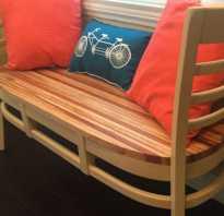 Садовая скамейка из двух стульев
