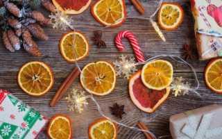 Как красиво засушить апельсин для декора