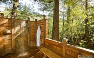 Деревянный душ для дачи своими руками технология монтажа