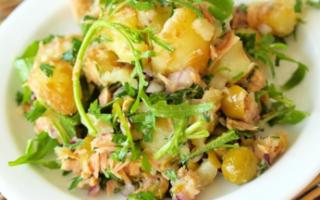 Теплый картофельный салат рецепт