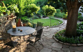 Растительность и декор зоны патио