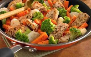 Блюда с курицей и овощами