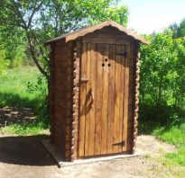 Возведение деревянного туалета с выгребной ямой