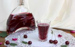 Водка на вишне с косточками