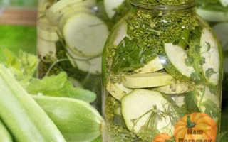Рецепт засолки кабачков