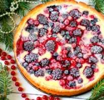 Открытый пирог с ягодами рецепт